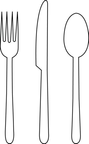 Outline Of Knife Fork Spoon Google Search Line Drawings For Embroidery Kitchenary Fork Template Printable
