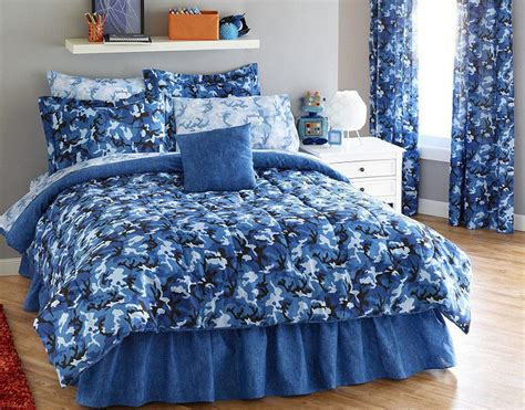 bright blue camouflage army boys twin comforter set 6