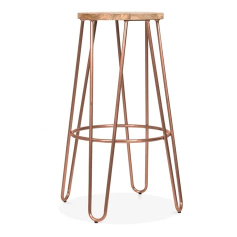 cult living 76cm vintage copper hairpin stool with