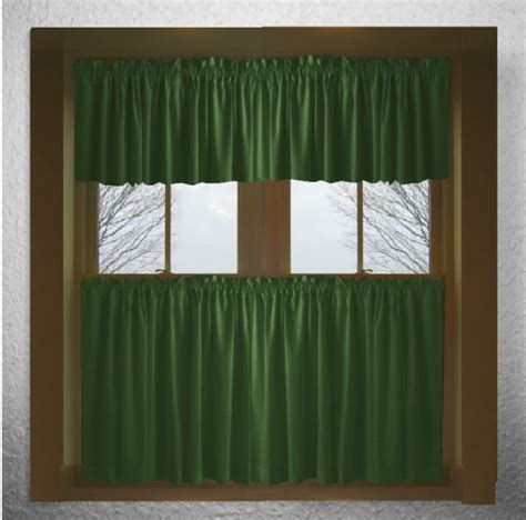 green cafe curtains solid hunter green cotton curtains