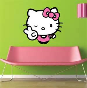 Hello Kitty Wall Mural Hello Kitty Wall Decal Asia Culture Stickers Primedecals