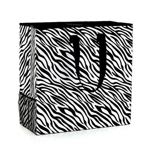 Zebra Print Double Compartment Organizer For Laundry Zebra Print Laundry