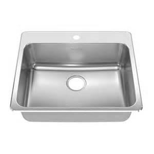 25 quot x 22 quot drop in single bowl kitchen sink wayfair