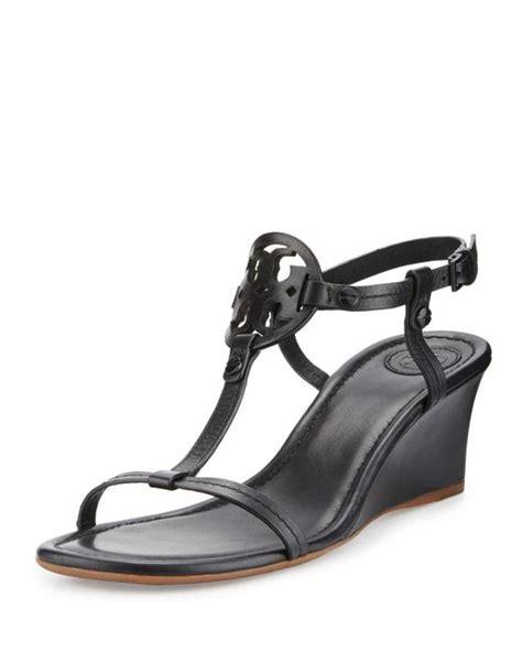 black miller sandal burch miller logo 60mm wedge sandal in black lyst