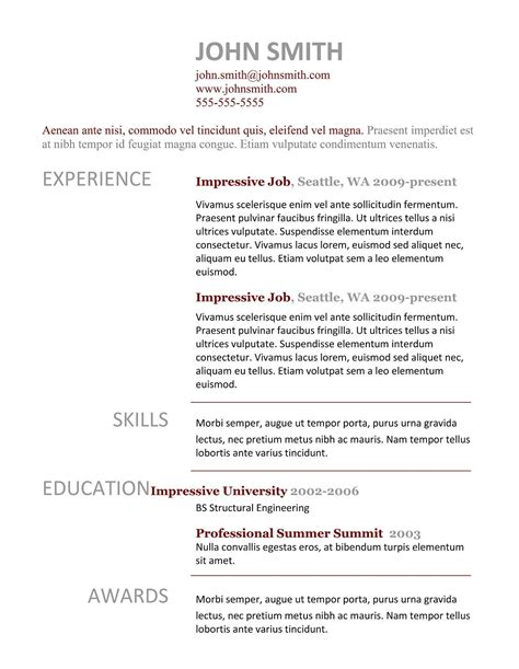 7 Free Resume Templates by Free Resume Templates Sle For Bpo Sles Activity Intended 79 Charming