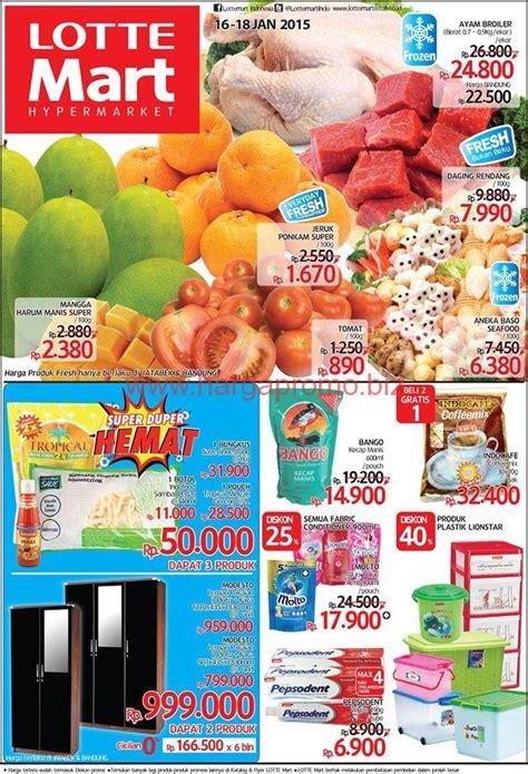 Minyak Di Lottemart katalog harga promosi akhir pekan di lottemart periode 16 sai 18 januari 2015 hargapromo biz