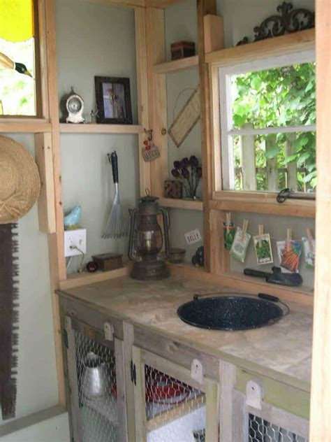 shed interior my garden shed interior our farmhouse pinterest