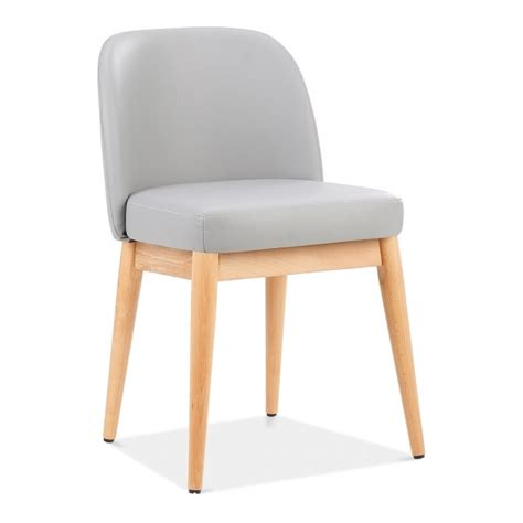 Light Grey Leather Upholstered Jett Dining Chair Dining Chair Clearance Sale