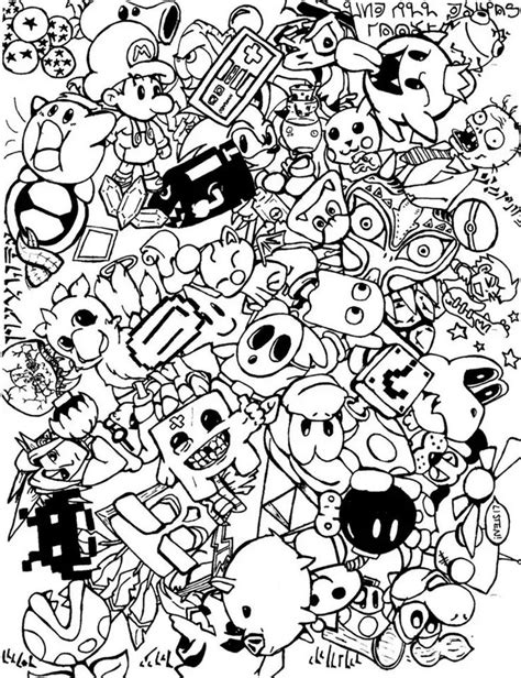 doodle coloring book free doodle coloring pages colouring detailed advanced