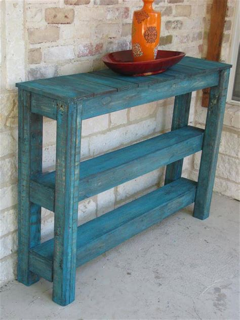 Pallet Side Table Pallet Wood Sofa Side Table 101 Pallets