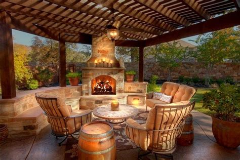outdoor fireplace outdoor spaces