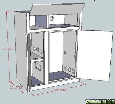 How To Build A Grow Cabinet Multi Chamber Growbox 420 Magazine