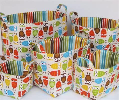pattern for fabric organizer fabric storage organizer container basket bin birds in