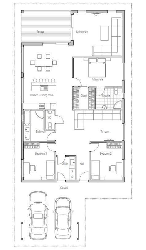 house plans on a budget affordable home with simple lines and shapes three