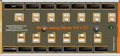 Kursi Untuk Warnet desain interior warnet malang ukuran 3 4 215 7 5 m argajogja