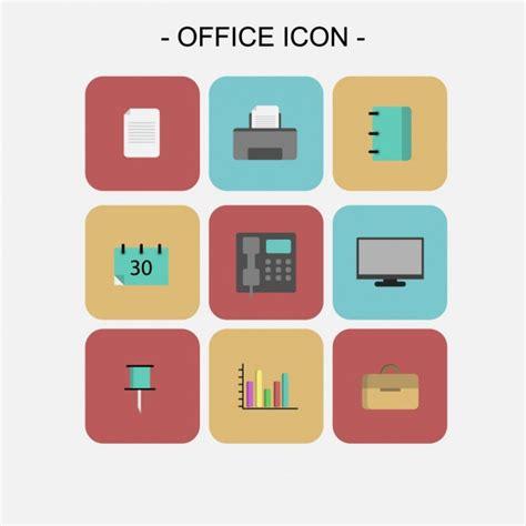 gratis ufficio ufficio icons collection scaricare vettori gratis