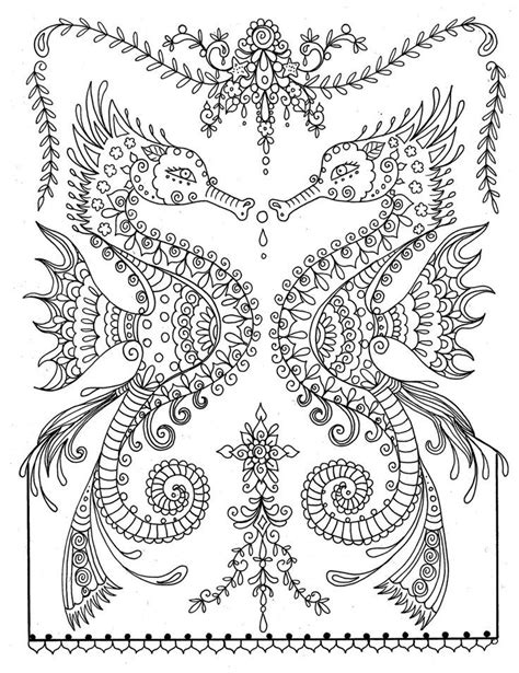 seahorse adult coloring pages az coloring pages