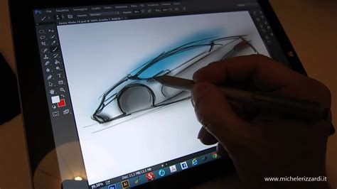 sketchbook pro surface 3 surface pro 3 car sketching with photoshop cc 2014