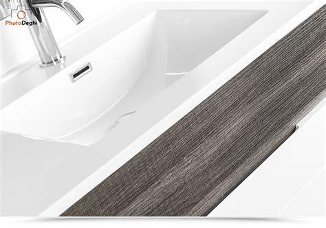 lavabo arredo mobile bagno sospeso 100 cm con lavabo arredo rovere scuro