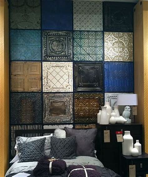 Tin Ceiling Tiles On Walls by Best 25 Tin Tiles Ideas On Faux Tin Ceiling