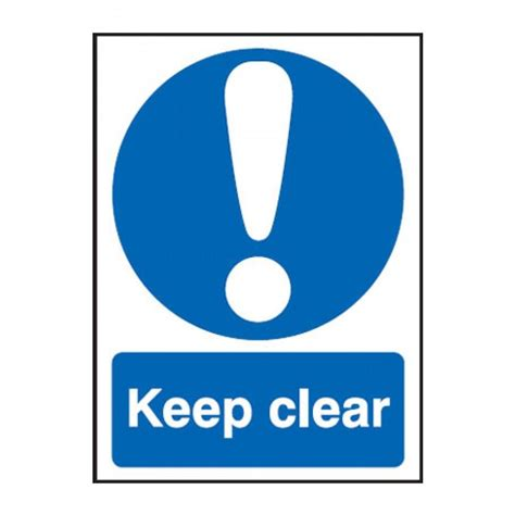 Multi Purpose Furniture by Keep Clear Ppe Sign Exit Safety Signs From Anglian Chemicals