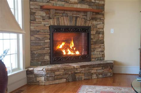 fireplace remodel on veneer gas