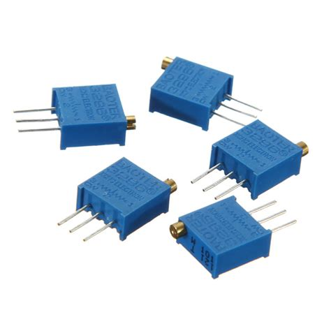 variable resistor 1 k 5pcs 1k 3296w 3296 trimmer potentiometer variable resistor alex nld