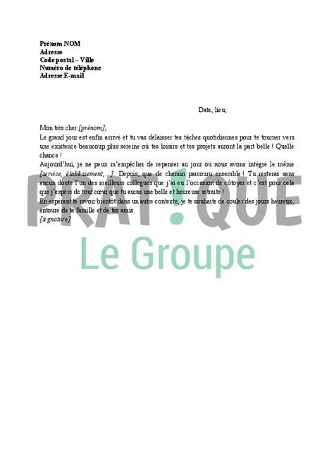 lettre de v蜩ux pour un d 233 part 224 la retraite pratique fr