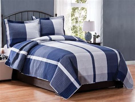 Boys Plaid Comforter Set by Boys Blue Football Comforter Navy Blue Plaid Boy Bedding Or King Quilt