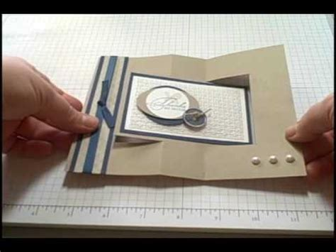 how to make folded cards swing card tutorial