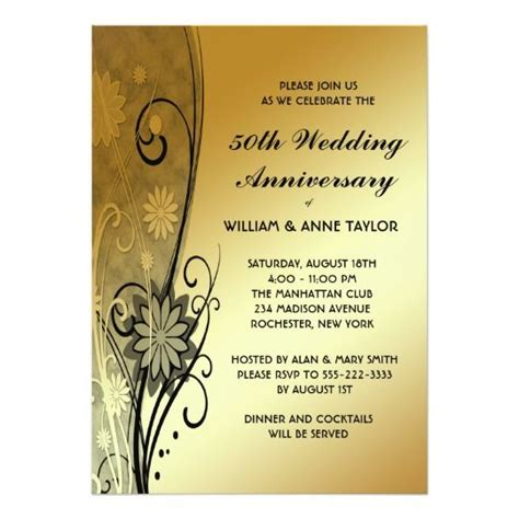 golden anniversary invitations templates best 10 50th anniversary invitations ideas on