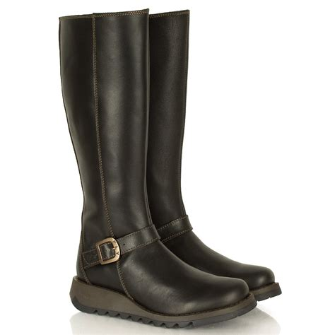 fly flara women s brown leather boot