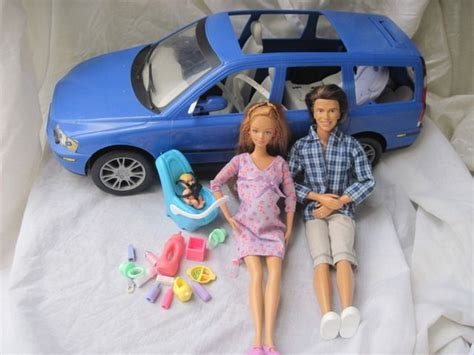 barbie cars with back seats happy family pregnant barbie baby volvo car seat alan