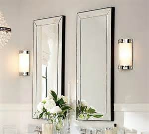 pottery barn mirrors bathroom astor mirror pottery barn
