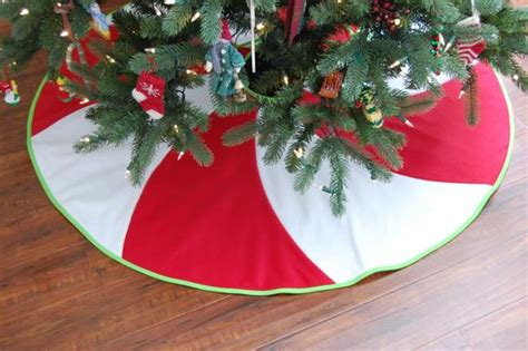lime and red tree skirt items similar to peppermint swirl tree skirt 54 quot and white and lime green fleece