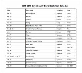 basketball roster template 10 basketball schedule templates free word excel pdf