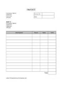 free printable service invoice template service invoice template