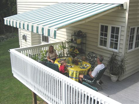 deck awnings retractable retractable patio deck awnings nationwide sunair maryland