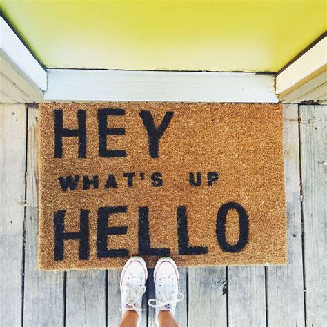 Front Door Welcome Mat 1000 Ideas About Door Mats On Doormats Door Mats And Coir Doormat