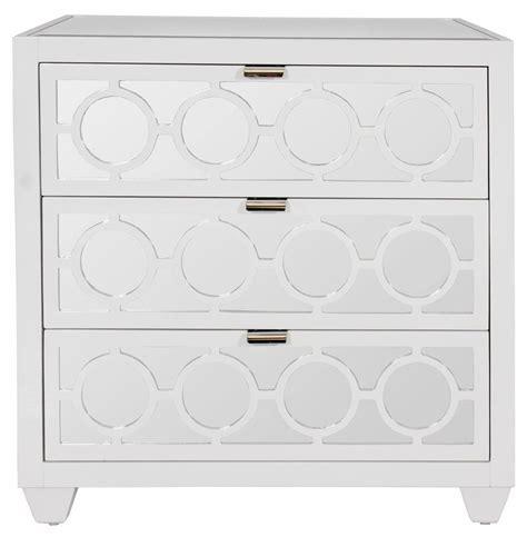 White Mirrored Nightstand by Malta Global Bazaar White Lacquer Mirror Nightstand Dresser