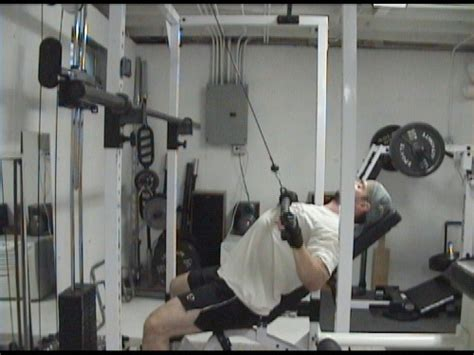 incline bench pull incline bench pulldowns for upper back shoulders and