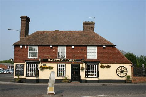 file the halfway house pub at the challock roundabout