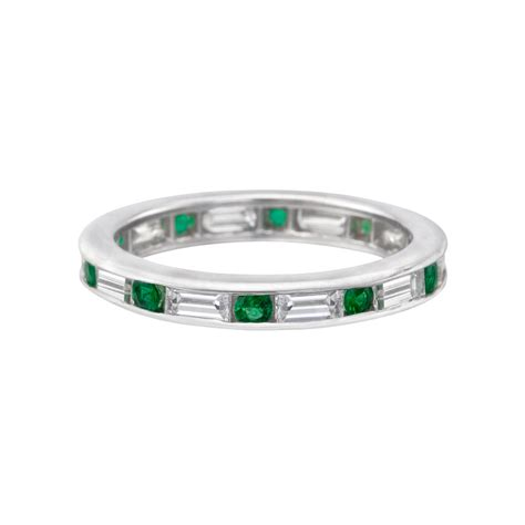 emerald baguette eternity band betteridge