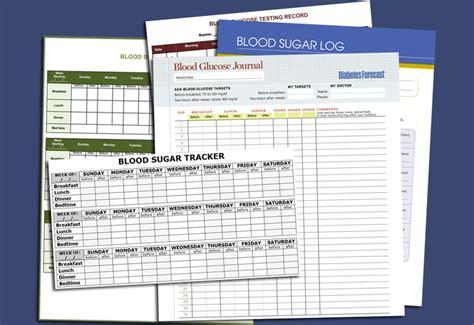 blood sugar template 5 free printable blood sugar log templates