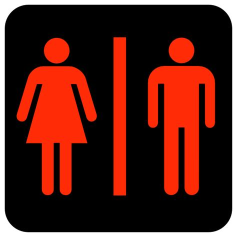man and woman bathroom sign large man woman bathroom sign red clip art at clker com