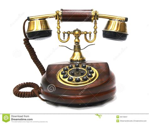 old vintage images vintage antique wooden and brass phone royalty free stock