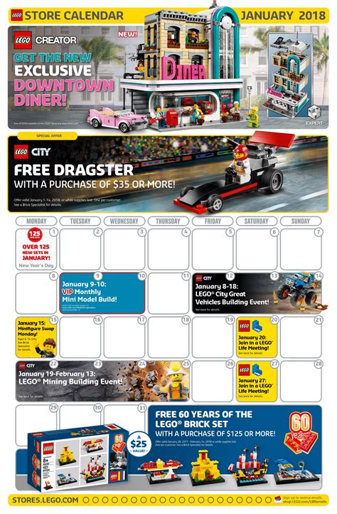 lego january 2018 store calendar promotions events the
