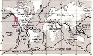 tectonic plates map united states volcanoes in national parks