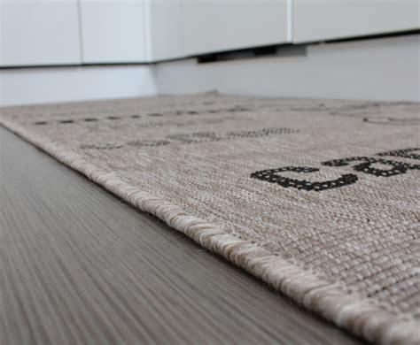 teppich sisal teppich sisal optik in grau mit schriftzug espresso