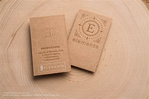printable kraft paper business cards brown kraft business cards